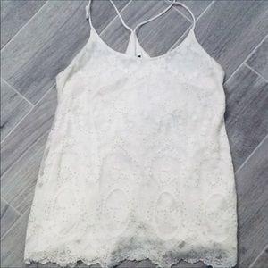 White House Black Market Beaded Lace Camisole